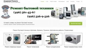 Разработка и создание сайта по ремонту бытовой техники в Щелково